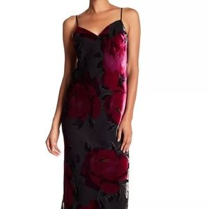 $398 TRINA TURK  Floral Velvet Dress